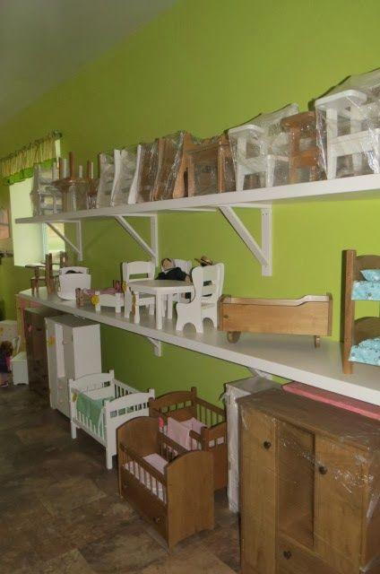 "Saving Shepherd: Hardwood Amish Handmade American Girl 18"" Doll Furniture & Children's Kitchen Sets"