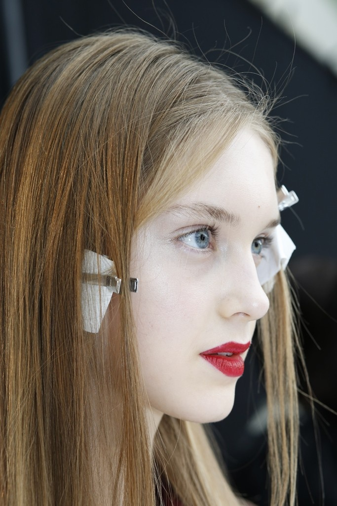 makeup artist cover letters%0A Backstage at Rochas RTW Spring         About the bold raspberry lips on the  runway   u