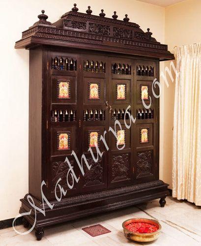63 Best Pooja Cabinet Images On Pinterest Pooja Rooms Mandir Design And Pooja Room Design
