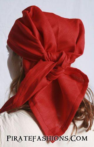 Pirate Bandana & Head Scarfs of Silk, Calico Cotton n' Linen for Sale