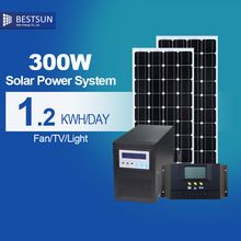 Out/indoor off grid 300W solar system polycrystalline silicon solar cell price solar panels for home for solar air conditioning