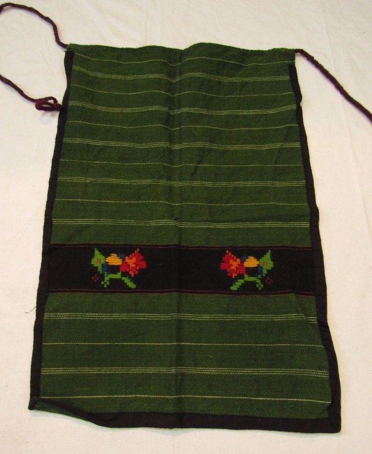 1900S FOLK ART COSTUME APRON, ANTIQUE VINTAGE 44*65CM GREEN APRON, DRESS BABINCI #Handmade