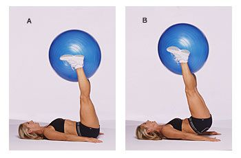 Love ball workouts! The Belly and Thighs Workout: Trim your waistline and