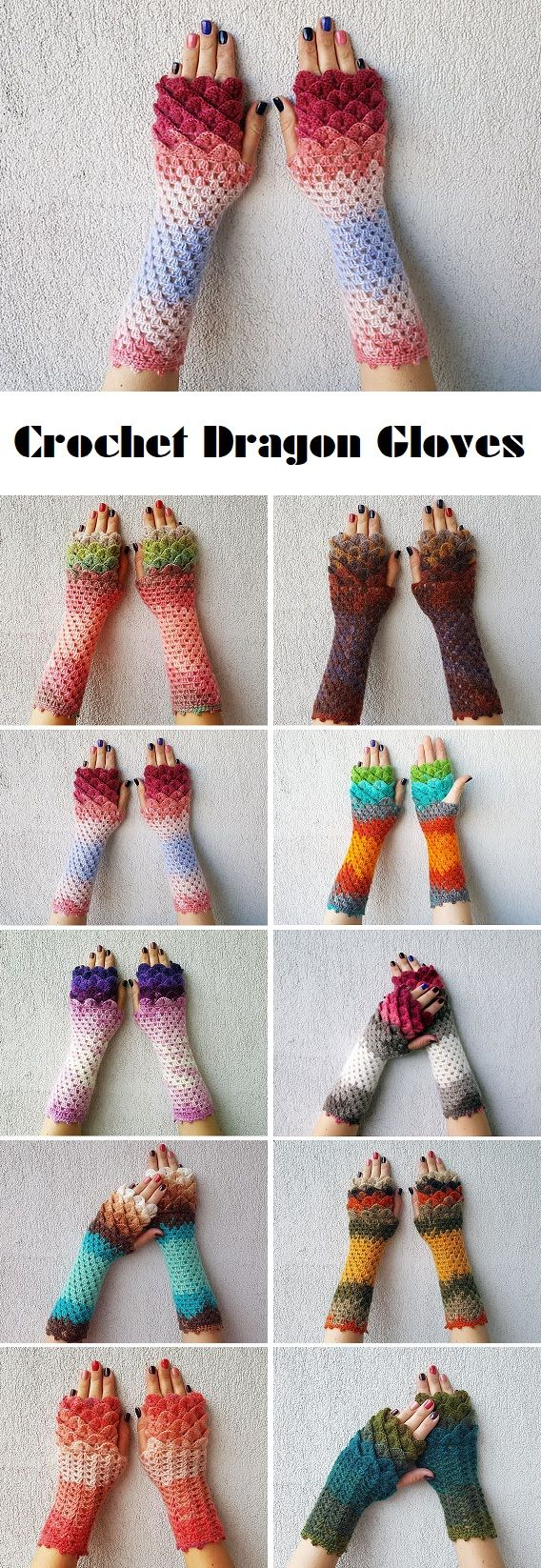 If directors of infamous TV series Game of Thrones ever decide to give 'Mother of dragons' some crochet gloves than most definitely these are the ones she is going to wear. The world of crochet has seen a lot of different glove types, but this design has been trendy for a good period of time… Read More Crochet Dragon Gloves