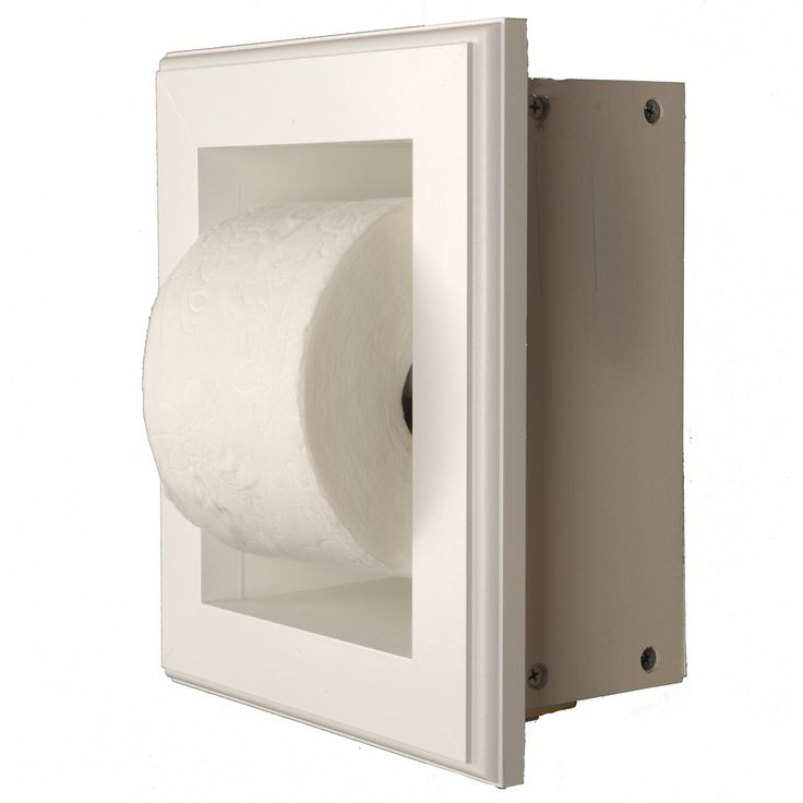 Solid Wood Recessed Toilet Paper Holder - Niche Frame -