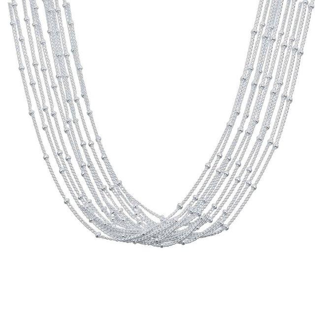 Оптовая посеребренные шарм jewelrys Ожерелье, бесплатная доставка 925 штампованные ювелирные изделия кулон AN469/aczaiuga