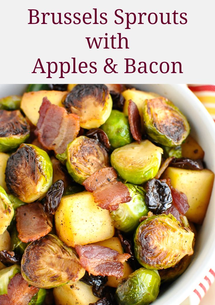 Brussel Sprouts with Apples & Bacon   – Allergy Free Alaska Recipes