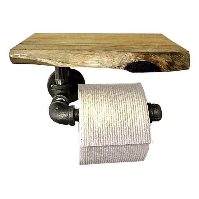 One of the favourites in my store : Live Edge Wood & Pipe TP Holder  http://woodmecustoms.com/products/live-edge-wood-pipe-tp-holder-industrial-rustic-bathroom-decor?utm_campaign=crowdfire&utm_content=crowdfire&utm_medium=social&utm_source=pinterest
