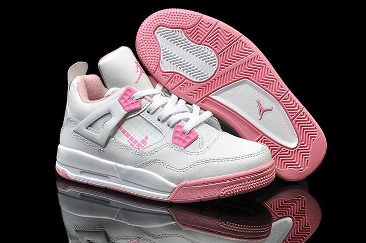 http://www.airjordanwomen.com/kids-jordan-4-white-pink-p-946.html Only$48.30 KIDS #JORDAN 4 WHITE PINK Free Shipping!