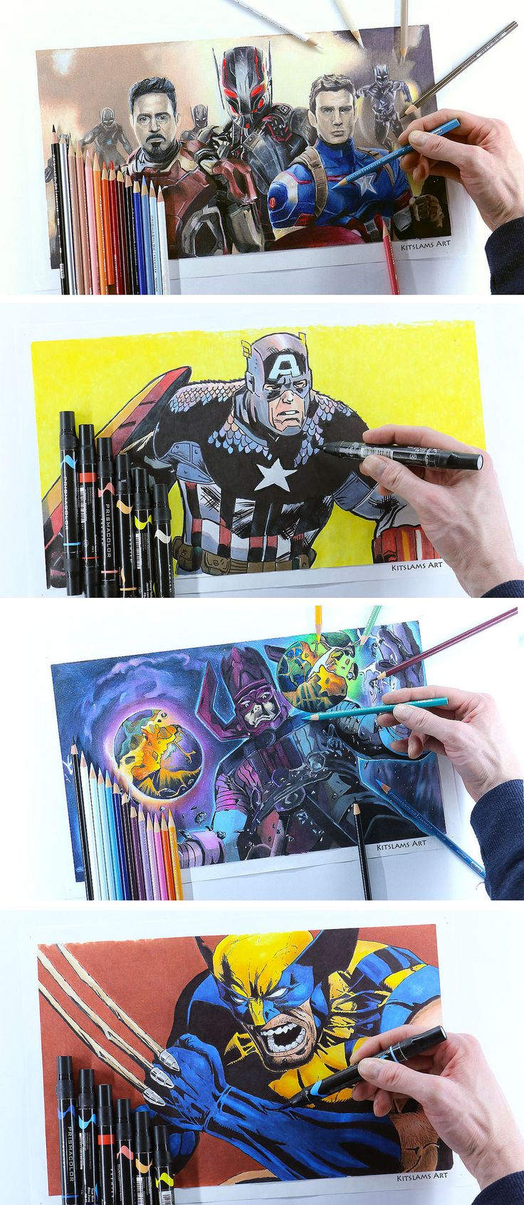 https://flic.kr/p/V9Wux7 | Collection of Marvel Super Hero Drawings @kitslam | YouTube Videos: https://www.youtube.com/watch?v=uQhzGbhw_tE&list=PL3gRhsFjneo1KVaBN7O5jDyYV7iGtKGCL