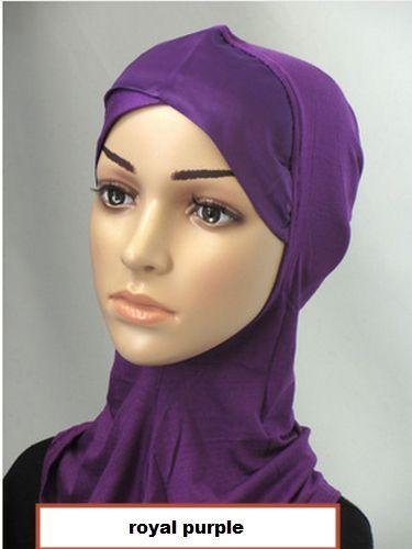 Single Satin Crossover ninja hijab Muslim Inner Hijab Caps Underscarf Hat bonnet #satincrossoverninja