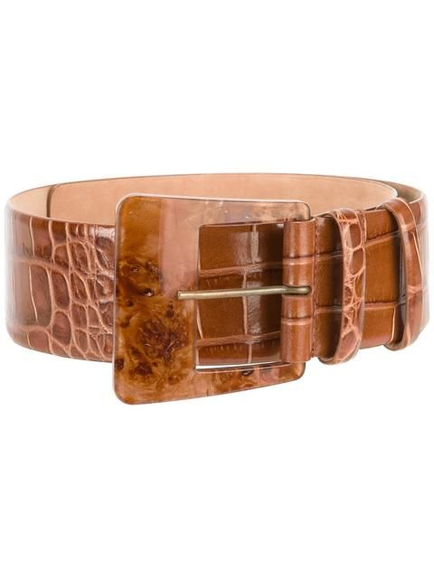 MAX MARA crocodile effect belt. #maxmara #belt