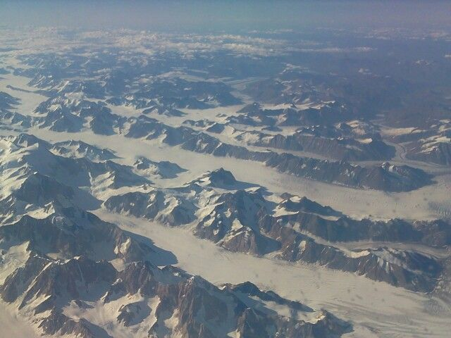 Mountains and glaciers that are not accessible by road.