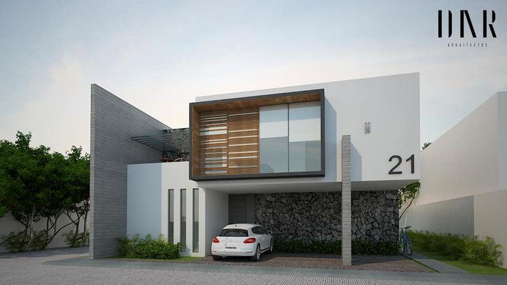 Perspectiva exterior casas de estilo por dar arquitectos for Fachadas de casas para segunda planta
