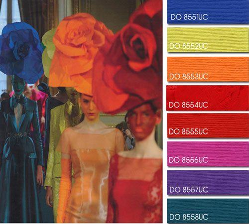 Spring Summer 2014, universal women's color trend report, full spectrum  color board