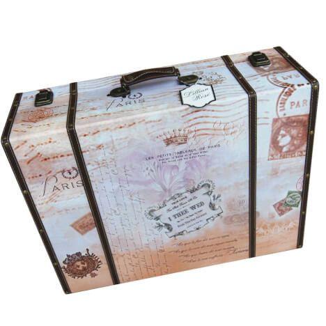 True Love Suitcase Card Box-Dark Tones
