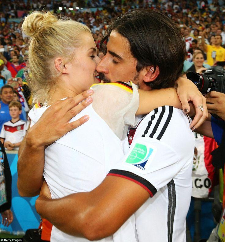 Sweet victory- Sami Khedira embraces girlfriend Lena Gercke