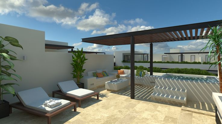 La exclusiva terraza del Penthouse