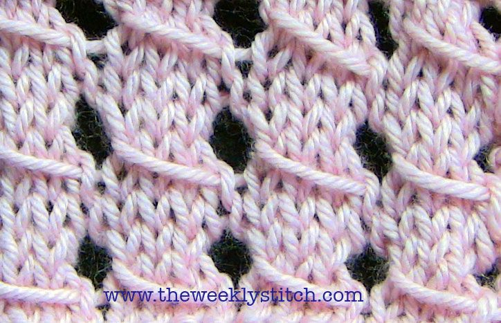 Sl Stitch In Knitting : Slip Stitch Lace The Weekly Stitch Things I intend to do Pinter?
