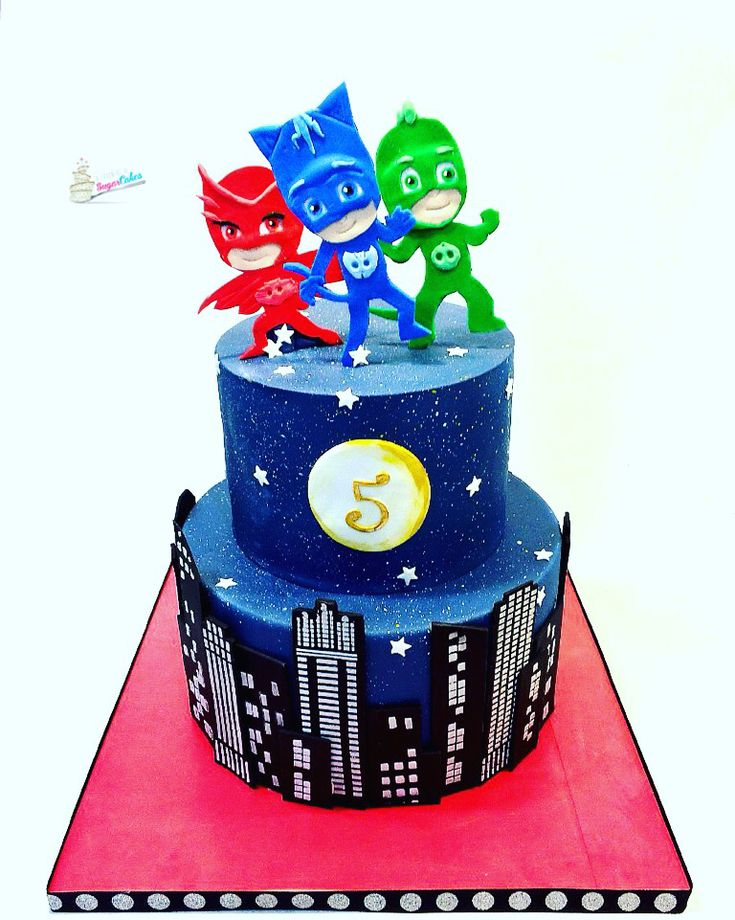 Pj Masks Cake HttpswwwfacebookcomA Spoonful of Sugar Cakes
