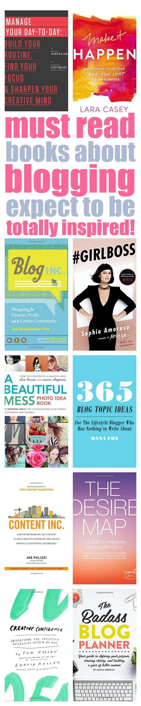 books about blogging that are inspiring and informative.
