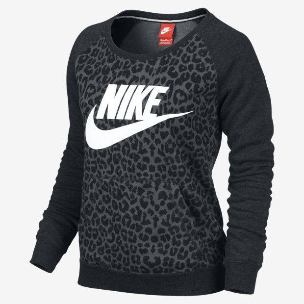 Leopard ♥ Nike Rally Women's Sweatshirt. Gotta look cute when you work out ;) - womens petite clothing, womens fashion clothing online, shopping for womens clothing