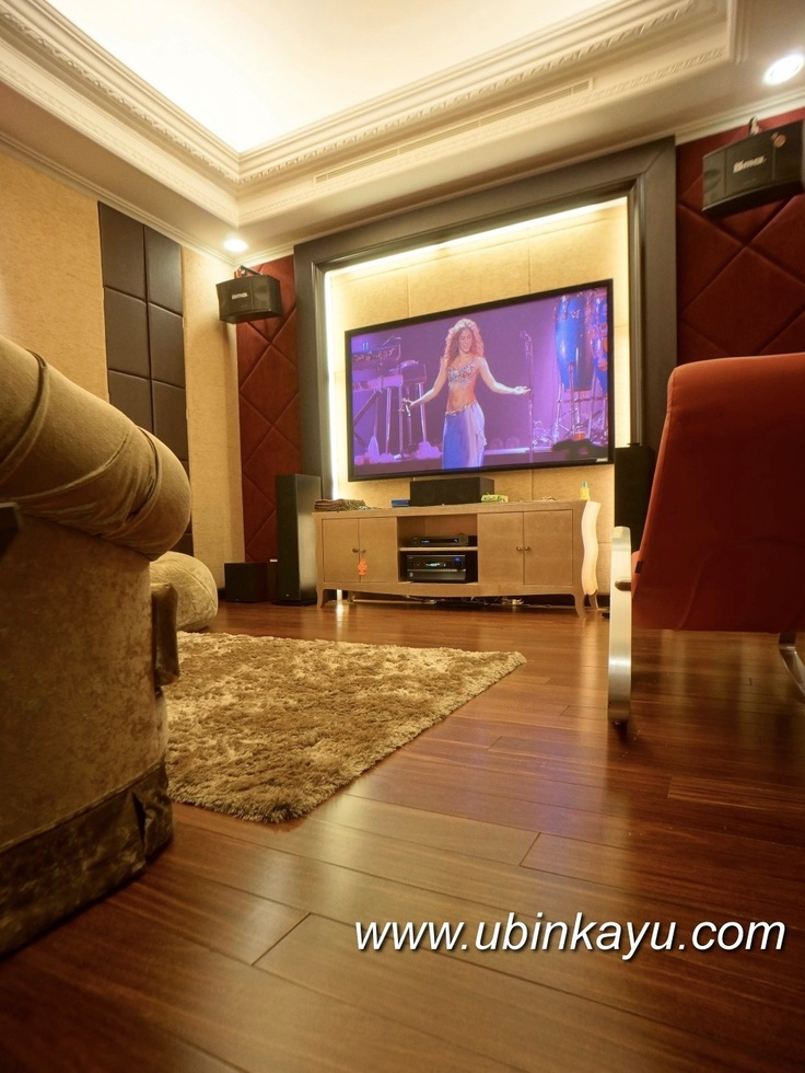 Kuku flooring for audio video room