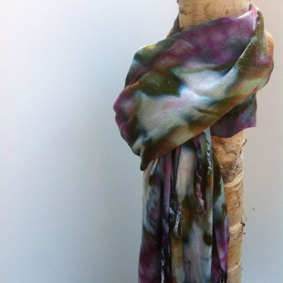 Scarves are 67x29 inches (Not including tassel length). Natural Fibre based Viscose and can be washed in the gentle cycle with like colours,
