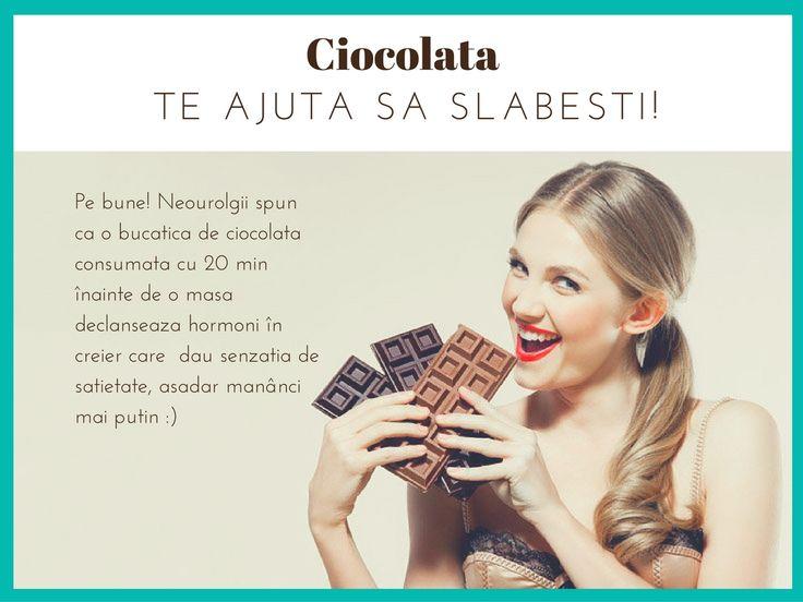 Ciocolata te ajuta sa slabesti! #ciocolata #dieta #nomnom  Descopera ciocolata extraordinara www.chocoliciousbox.com