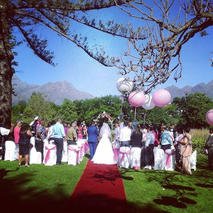 Congrats to Chrystal & Robin. Beautiful garden wedding in the Stellenbosch Winelands.