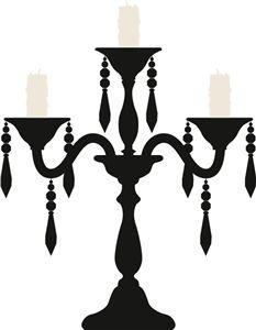 Silhouette Design Store - View Design #33137: candelabra