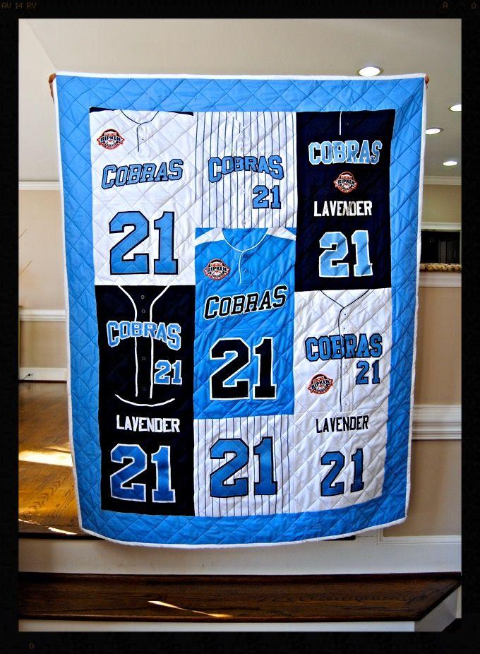 Baseball jersey quilt                                                       …