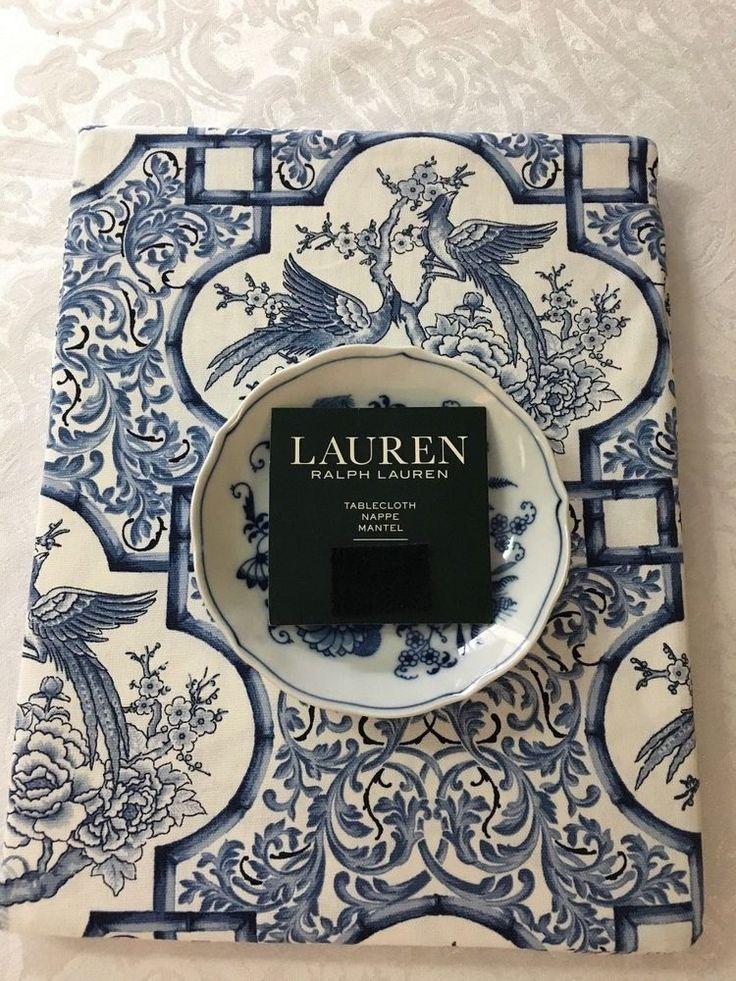 Details about Ralph Lauren Chinoiserie Blue/White Cotton