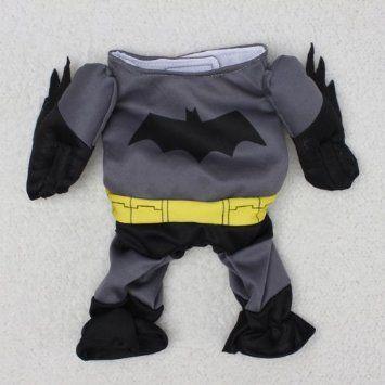 Pet Cat Dog Batman Costume Warm Outfit Clothes Funny Party Fancy Dress,Asian size: Amazon.co.uk: Pet Supplies