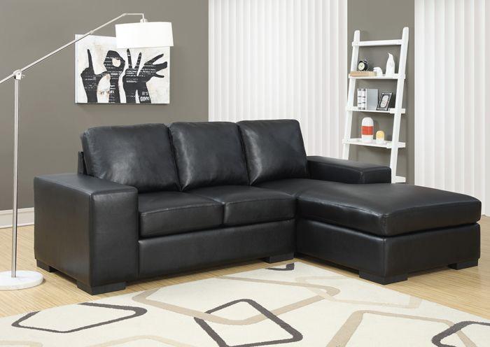 Sofa De Repos En Cuir Polyuréthane Noir / Black Bonded Polyurethane Leather Sofa  Lounger