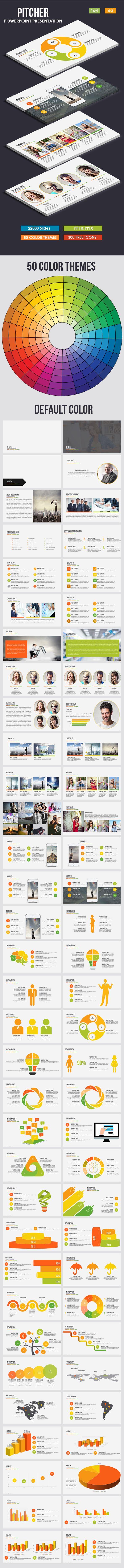 71 best graphic design templates images on pinterest charts graph pitcher multi purpose powerpoint template toneelgroepblik Gallery