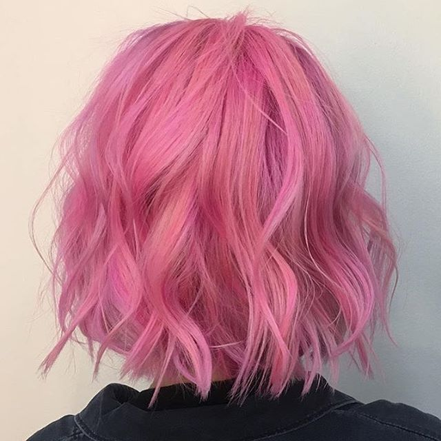Pretty in pink! @amelia.beatrice with style by @charabelle used @bumbleandbumble to create magic! #modernsalon #followherfriday