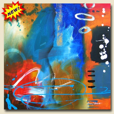"""Artist: Gino Savarino  Title: """"Non Issue""""  Size: 30 x 30"""" x 3/4""""  Gallery Price: $400  Media: Acrylic  Support: Stretched canvas   Created: NEW 2009  Edition: Original"""