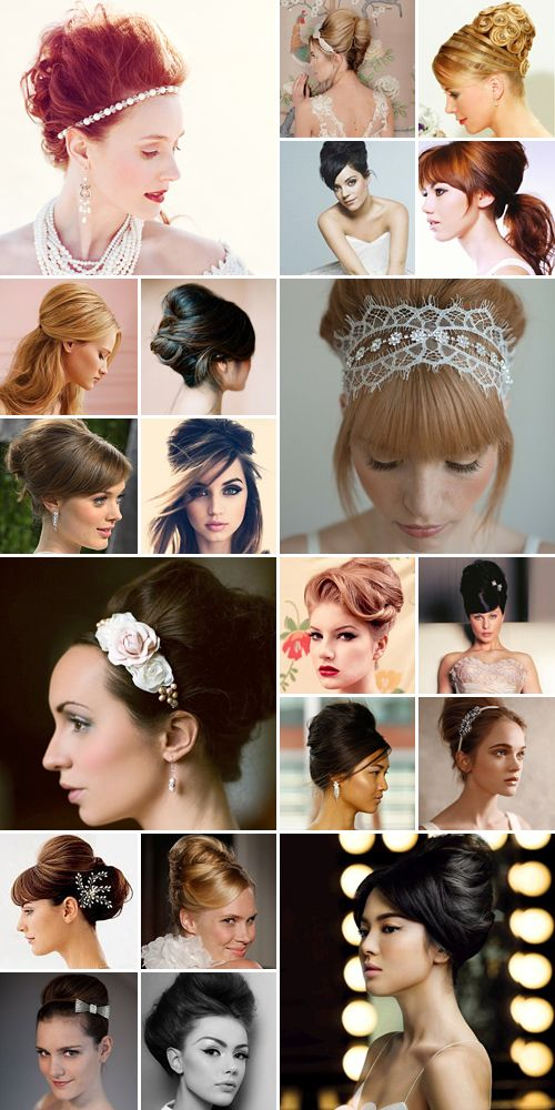 Beehive Wedding Hair