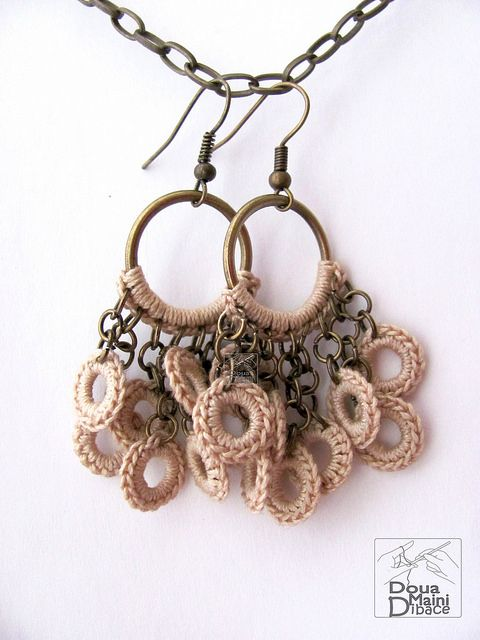 The Naturals - crochet cotton fiber textile earrings | Flickr – Condivisione di foto!