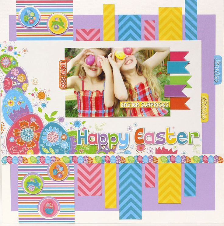 happy easter layout - reminisce papers - tami sanders