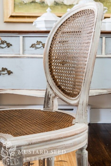 Cane Chairs Designs : miss mustard seeds gorgeous two tone cane back dining chair diy redo ...