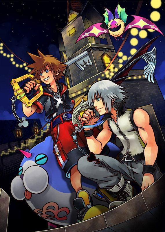 Kingdom Hearts Dream Drop Distance 3DS PS4 Sora Riku Large