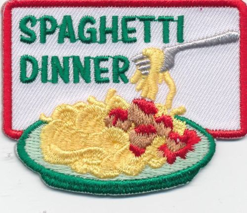Girl Boy Cub Spaghetti Dinner Fun Patches Crests Badges Scout Guide Fundraiser | eBay