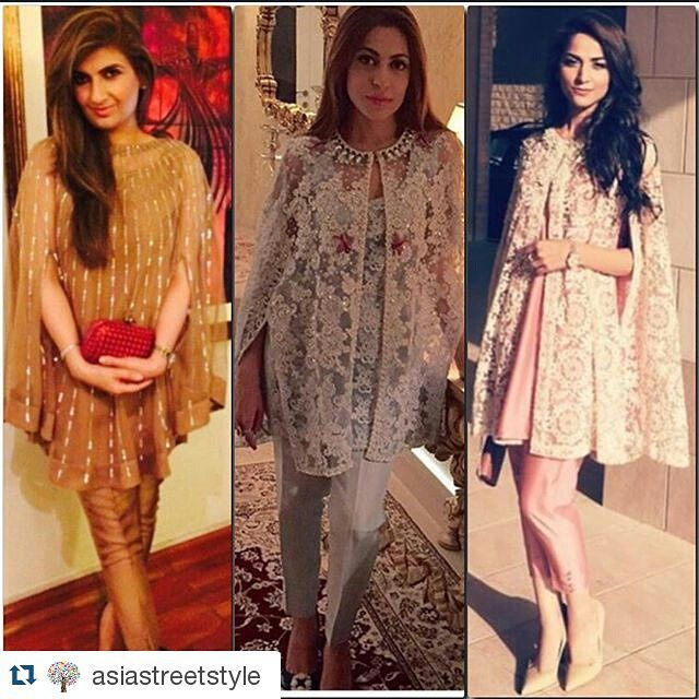 #Repost @asiastreetstyle ・・・ Some of our fashionistas opted for capes this Eid ! L-R : #ayeshasohail #saniya #erumehsan #stunners #asiastreetstyle ❤️