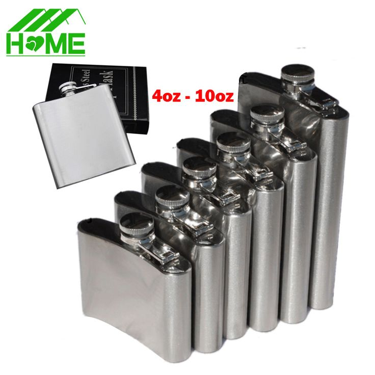 Stainless Steel Hip Flask Alcohol Bottle Pocket Set Cantil De Whiskey Drink Flasks Wisky Flasque Alcool Heupfles Flachman Gifts  #Affiliate