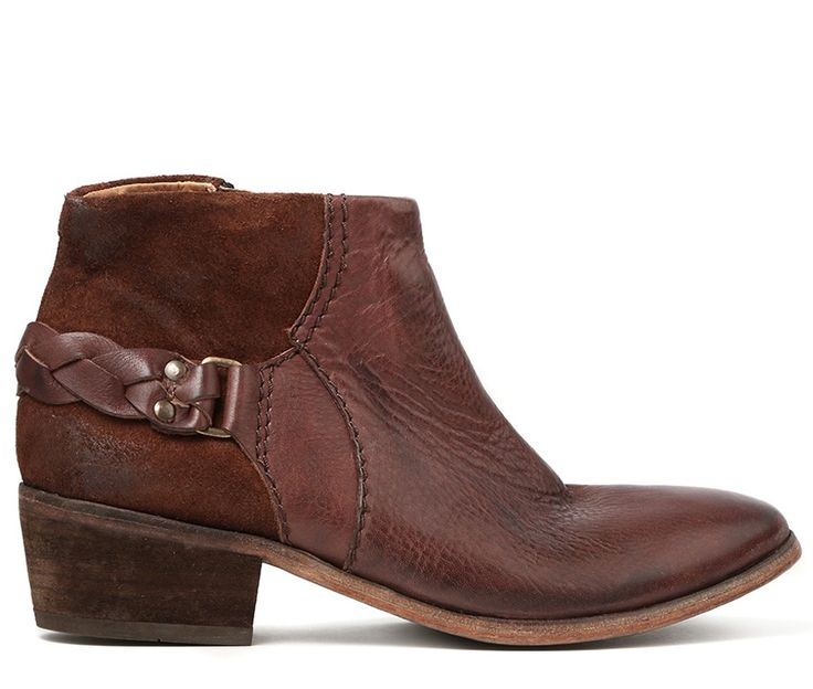 Triad takes traditional H aesthetic values and applies them to our of our newest shapes. Using a mix of leather and suede this boot is a great choice for the transitional season. A plaited leather strap runs around the heel for a touch of detail. Finished on a leather sole, this boot is built with quality in mind.
