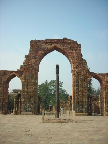 Iron Pillar, Delhi, India.  1600 years old and doesn't rust