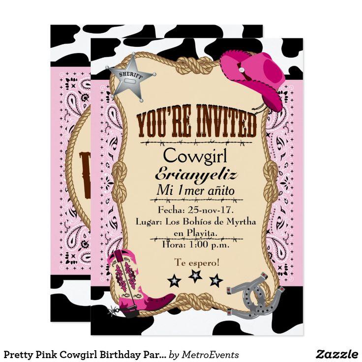 Invitaciones rosadas bonitas de la fiesta de invitación 12,7 x 17,8 cm
