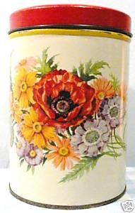 Oud blik gebloemd vintage old Dutch tin flowers bloemen